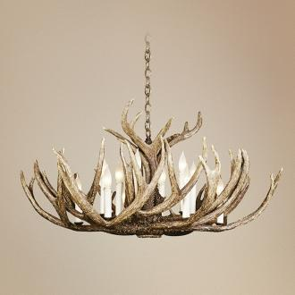 Idol Twelve Light Antler Chandelier Lampsplus