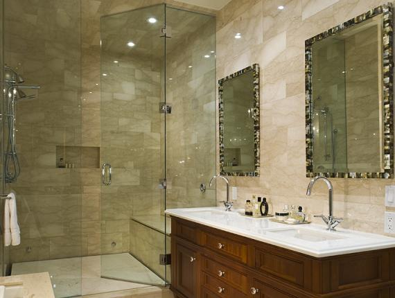 Mother of pearl Mirrors  Contemporary  bathroom  Taylor