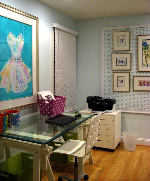 white ikea office chair oversized upholstered desk- vintage - den/library/office benjamin moore spring mint laura trevey