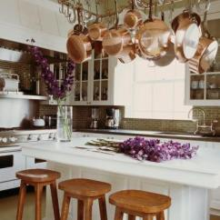 Pot Racks For Kitchen Top Rated Cabinets Rack Over Island Traditional Michael S Smith