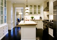 White Kitchen cabinets with Dark Wood Floors- Cottage ...