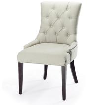 Restoration Hardware Martine Linen Tufted Chair Look 4 Less