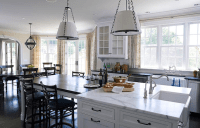 Kitchen Island Dining table - Transitional - kitchen ...