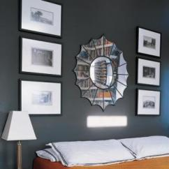 Contemporary Living Room Art Blue And Tan Walls Orange Bedspread - Bedroom Elle Decor