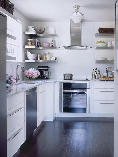 Design White Subway Tiles Stainless Steel Floating Shelf Shelves