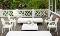 White Outdoor Furniture - Contemporary - deck/patio ...