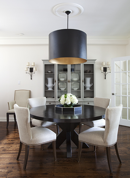 Round Espresso Dining Table Contemporary Dining Room