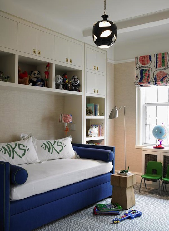 Blue Daybed  Contemporary  boys room  Katie Ridder