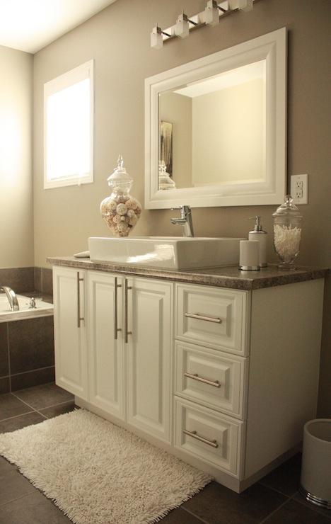 Intellectual Gray  Transitional  bathroom  Sherwin