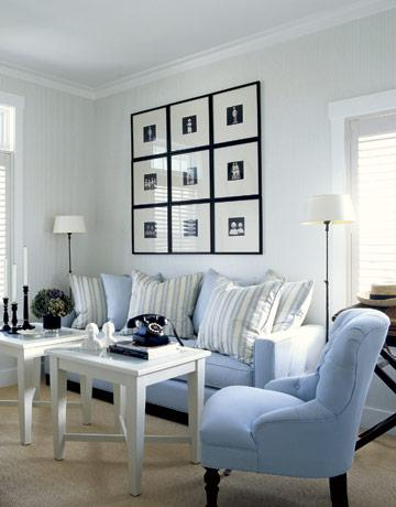grey accent chair with arms adjustable piano blue couch - cottage living room my home ideas