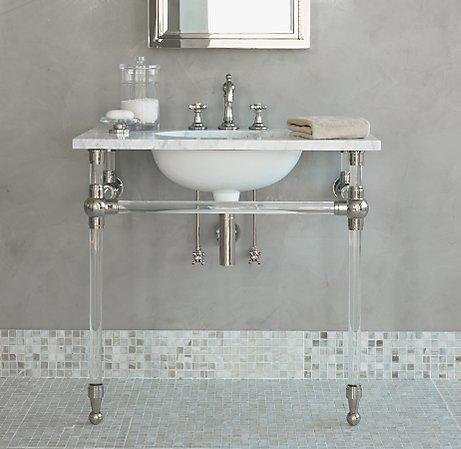Gramercy Single Glass Washstand  Single Vanities