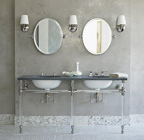 Gramercy Single Glass Washstand  Single Vanities
