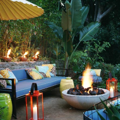 Bright Colored Sofa Pillows Beds At Wayfair Outdoor Firepit - Contemporary Deck/patio