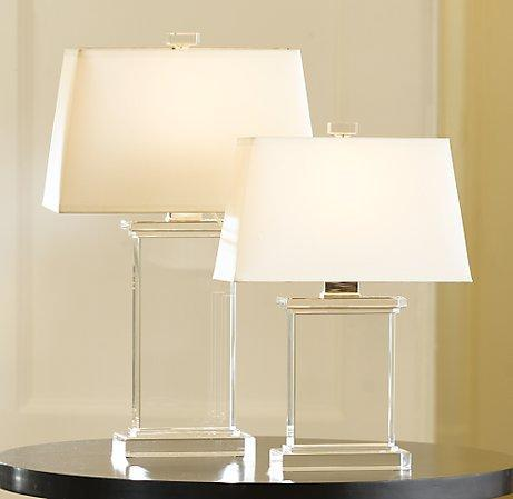 Crystal Pier Lamps  Crystal  Restoration Hardware