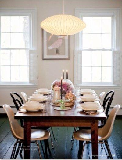 Nelson Pendants  Vintage  dining room