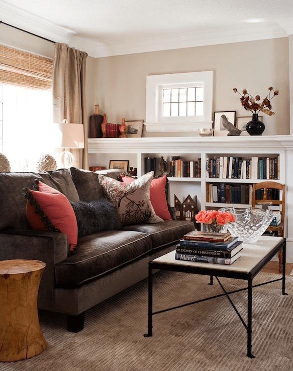 Chocolate Brown Velvet Sofa Design Ideas