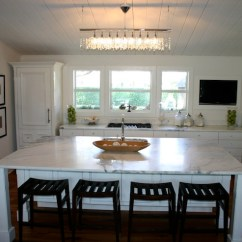 Modern Kitchen Window Treatments Custom Cabinets Prices Linear Strand Crystal Chandelier - Cottage ...
