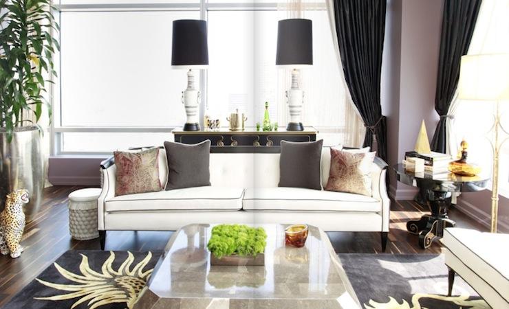 Hollywood Regency Sofa  Contemporary  living room  Rue