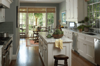 Kitchen French Doors - Transitional - kitchen