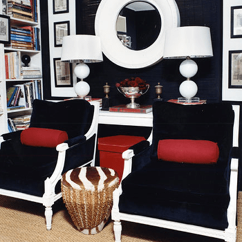 navy blue and red living room ideas wall hangings herringbone pillows design svz interior chairs