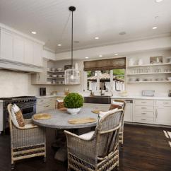 Zinc Kitchen Table Gray Subway Tile Top Dining Cottage Cote De Texas