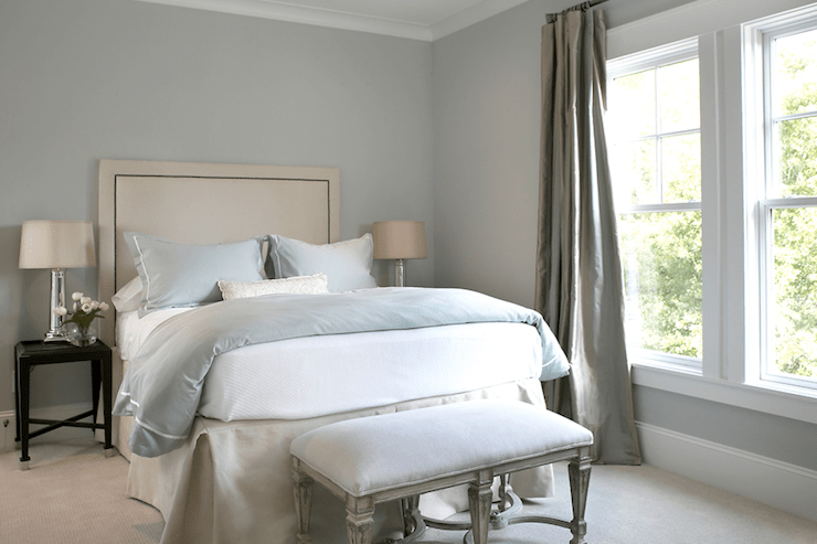 Blue Gray Paint Colors Transitional  bedroom  Martha