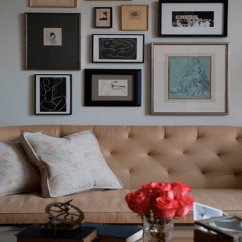 Gray Linen Tufted Sofa Oak Furniture Land Jasmine Bed Art Over Design Ideas