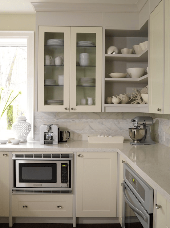 Kitchen With Cream Cabinets Contemporary Kitchen ICI Dulux French White Sarah Richardson