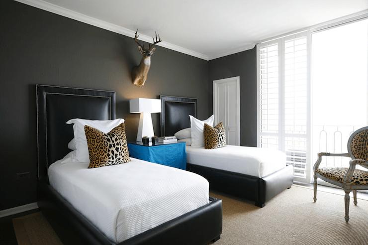 Leopard Pillows  Contemporary  boys room  Ashley
