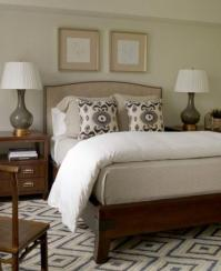 Gray Gourd Lamp - Transitional - bedroom - Phoebe Howard