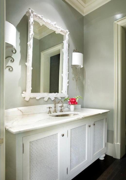 Grey and White Bathroom  Contemporary  bathroom