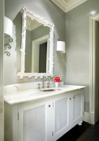 Grey and White Bathroom - Contemporary - bathroom ...