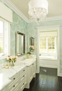 Wallpaper for Bathrooms - Traditional - bathroom ...
