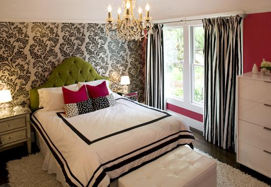 Black And White Curtains Contemporary Girl S Room