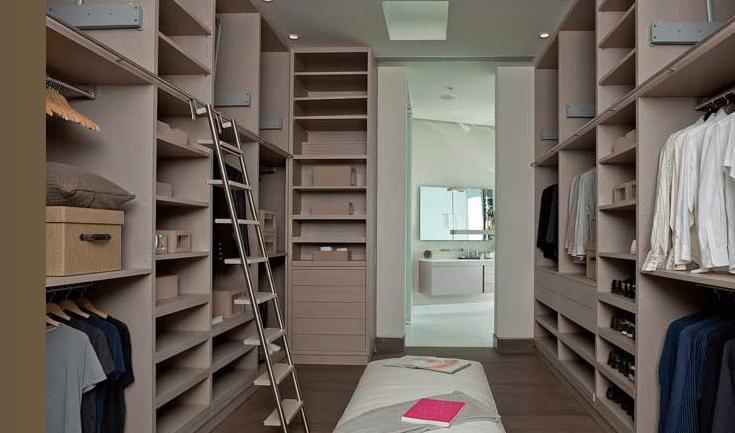 Closet Ladder  Contemporary  closet  Brown Design