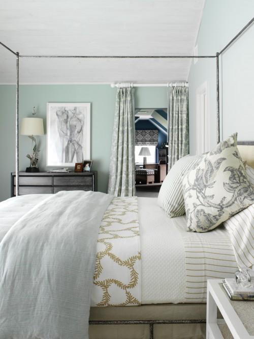 Metal Canopy Bed  Cottage  bedroom  Tara Seawright