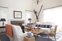 White Slipcovered Sofas - Cottage - living room - Jean ...