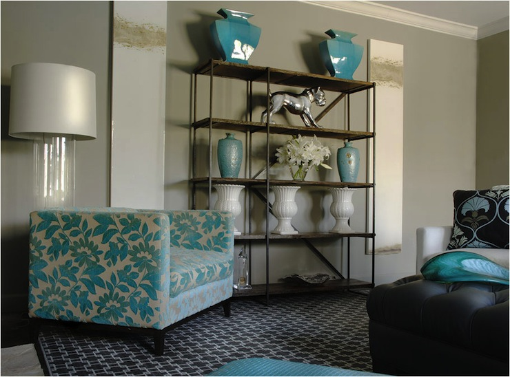 gray and turquoise living room decorating ideas white table accents contemporary caldwell flake