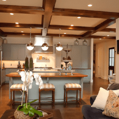 Gray Chair Slipcover Comfy Gaming Wood Beams Design Ideas