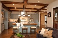 Kitchen Coffered Ceiling - Transitional - kitchen - Cote ...