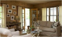 Knotty PIne Paneled Walls - Country - living room ...