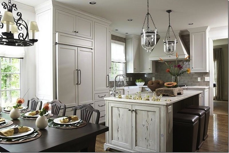distressed kitchen island places to buy tables transitional dana wolter