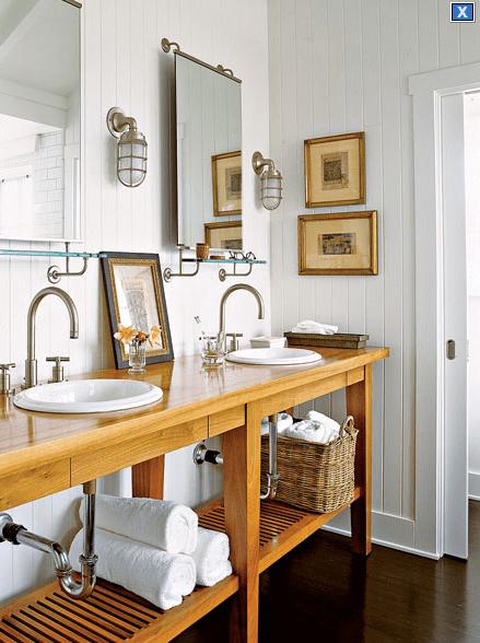Maritime Sconces  Cottage  bathroom  My Home Ideas