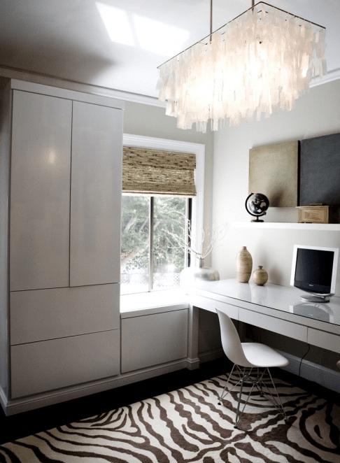 Built In Desk  Contemporary  denlibraryoffice  Amoroso Design