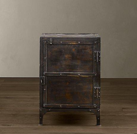 Industrial Tool Chest  Side  Item Tables  Restoration