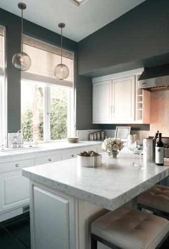 White And Gray KItchen Contemporary Kitchen Kishani Perera