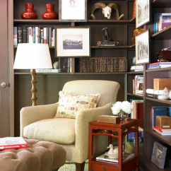 Transitional Living Room Furniture Curtains Jcpenney Built In Bookshelves - Den/library/office ...