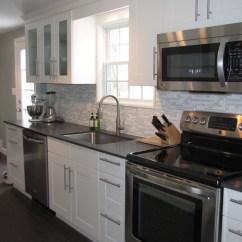 Vinyl Wallpaper Kitchen Backsplash Stainless Steel Ikea Adel Cabinets - Contemporary Benjamin ...