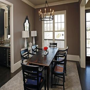 turquoise chairs leather wheelchair uber taupe paint - contemporary dining room sherwin williams spalding gray hgtv