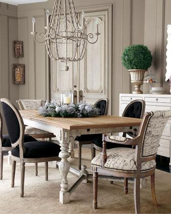 mixing leather and fabric furniture in living room bohemian ideas french script dining chairs -